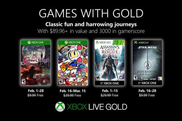 Games With Gold: Assinantes já podem baixar esses jogos na segunda quinzena de Fevereiro