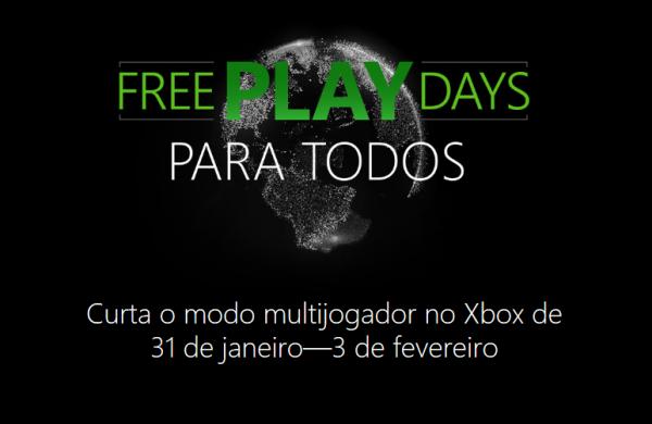 Free Play Days: Curta o modo multijogador no Xbox até 3 de fevereiro gratuitamente