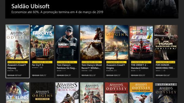 [ATUALIZADO] #3 Seleção de descontos da Microsoft Store – Saldão Ubisoft