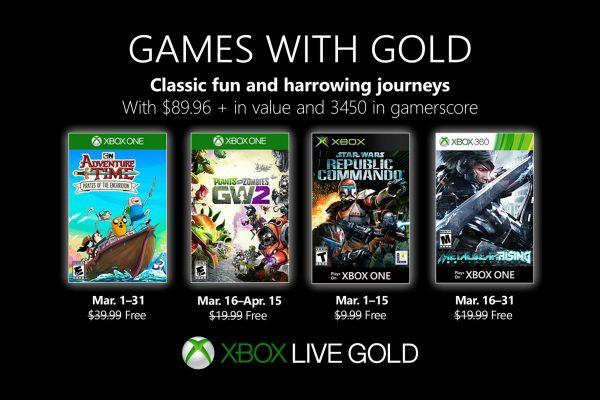 Games With Gold: Saibam os jogos que estarão disponiveis em Março!