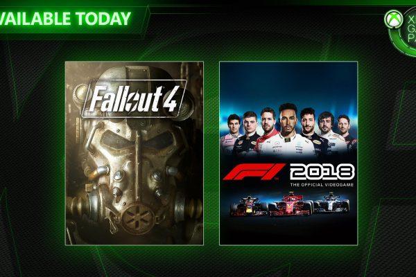 Xbox Game Pass: F1 2018 e Fallout 4 chegam ao serviço de assinatura!