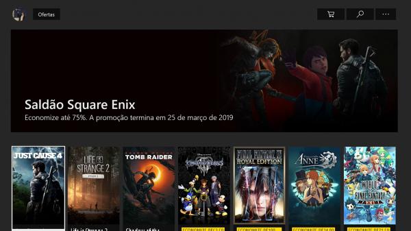 #4 Seleção de descontos da Microsoft Store – Saldão Square Enix