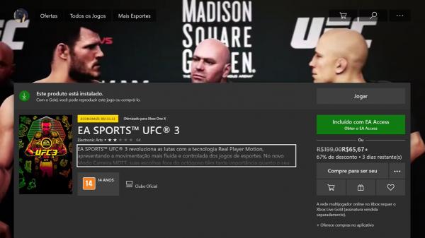 Free Play Days: UFC 3 está grátis esse final de semana