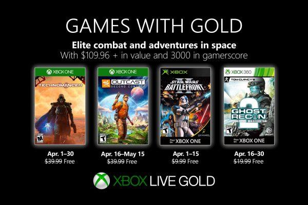 Games With Gold: Saibam os jogos que estarão disponiveis em Abril!