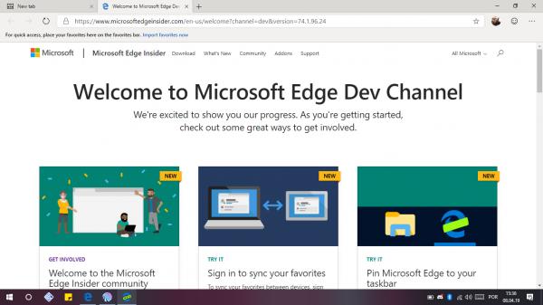Microsoft Edge Insider: As Primeiras Versões já disponiveis para teste