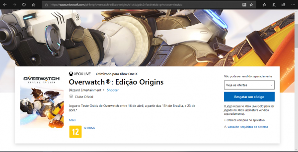 Xbox: Overwatch tambem terá periodo de gratuidade esse mês!
