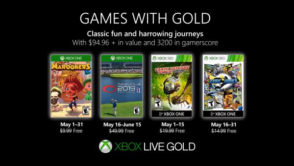 Games With Gold: Saibam os jogos que estarão disponiveis em Maio!