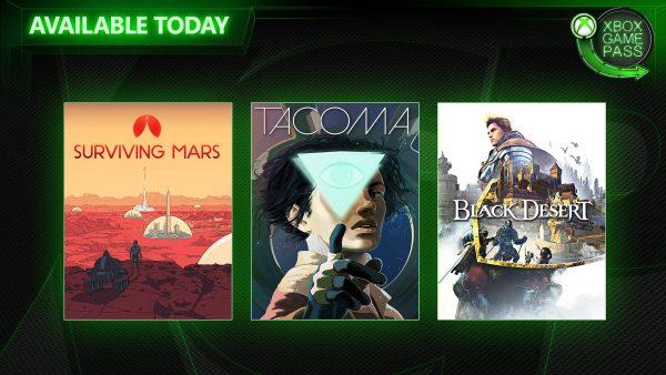 Xbox Game Pass: Black Desert, Tacoma e Surviving Mars chegaram ao serviço hoje!