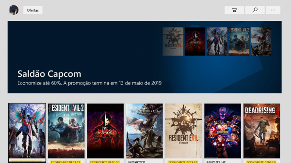 #7 Seleção de descontos da Microsoft Store – Saldão Capcom