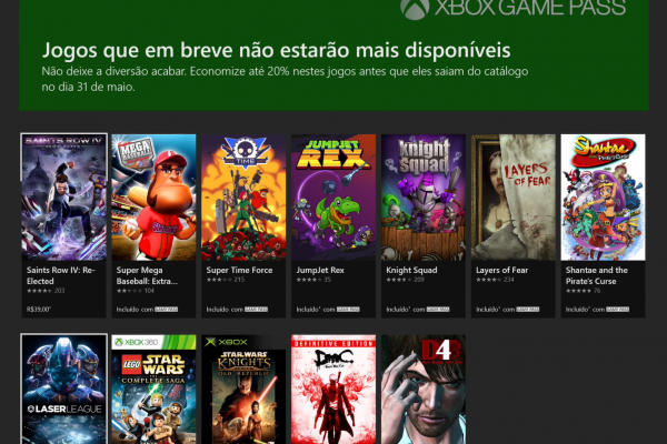 Xbox Game Pass: Games que deixarão o serviço em 31 de Maio!