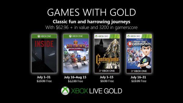 Games With Gold: Saibam os jogos que estarão disponiveis em Julho!