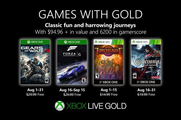 Games With Gold: Saibam os jogos que estarão disponiveis em Agosto!