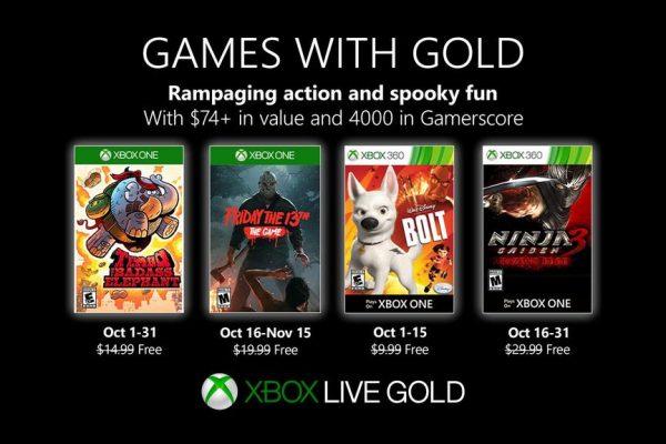 Games With Gold: Saibam os jogos que estarão disponiveis em Outubro!