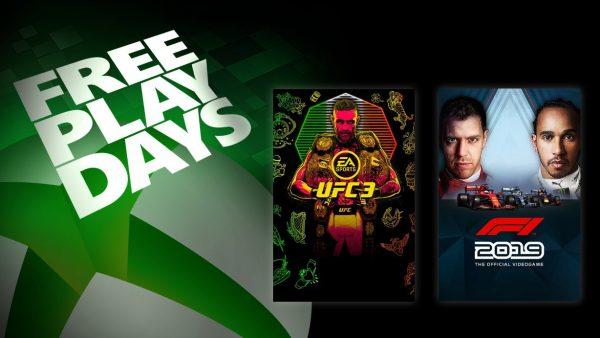 Free Play Days: UFC 3 e F1 2019 são os games desse fim de semana!