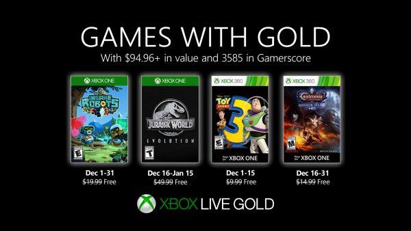 Games With Gold: Saibam os jogos que estarão disponiveis em Dezembro!