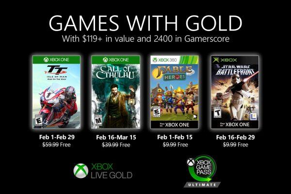 Games With Gold: Assinantes já podem baixar esses jogos na primeira quinzena de Fevereiro!