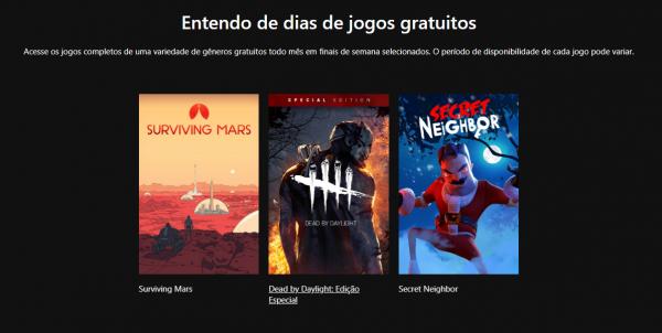Free Play Days: Esses são os 3 Games gratuitos para assinantes da Xbox Live Gold