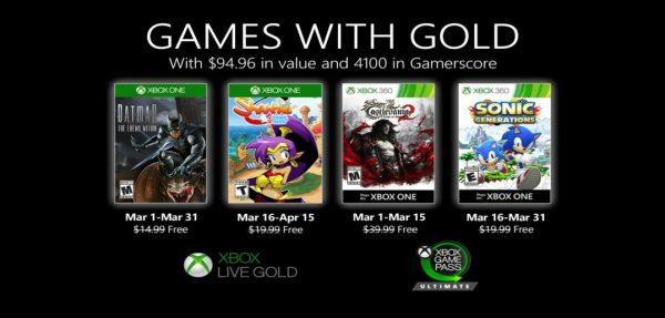 Games With Gold: Esses são os jogos na primeira quinzena de Março!