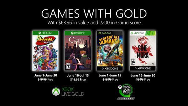 Games With Gold: Saibam os jogos que estarão disponíveis na segunda quinzena de Junho