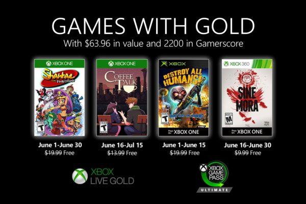 Games With Gold: Saibam os jogos que estarão disponíveis no mês de Junho