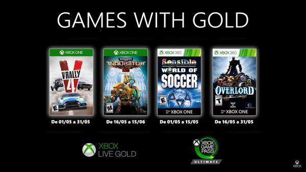 Games With Gold: Games da 2° quinzena de Maio de 2020 já disponíveis!