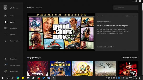 Epic Games: Você tem até dia 21 para pegar o GTA V pra si!
