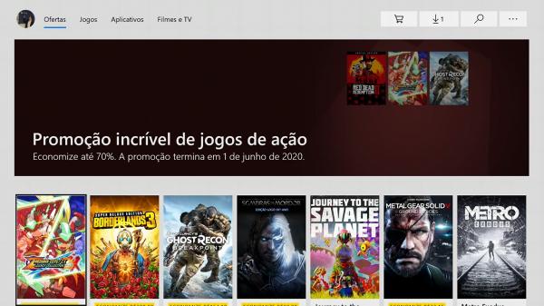 #43.2 Seleção de descontos da Microsoft Store – Jogos de Ação
