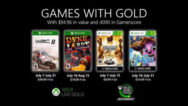 Games With Gold: Saibam os jogos que estarão disponíveis na segunda quinzena de Julho