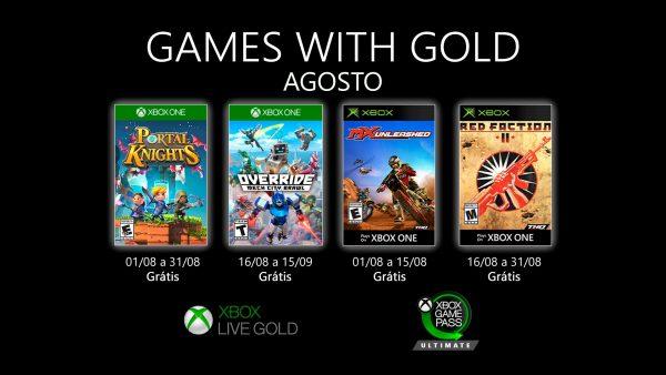 Games With Gold: Saibam os jogos que estarão disponíveis em Agosto!