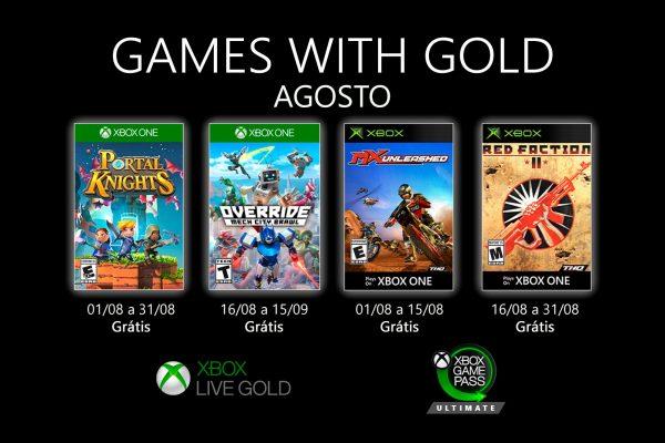 Games With Gold: Saibam os jogos que estarão disponíveis na segunda quinzena de Agosto