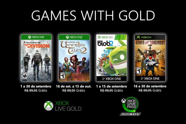 Games With Gold: Saibam os jogos que estarão disponíveis em Setembro!