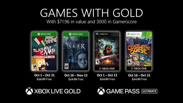 Games With Gold: Saibam os jogos que estarão disponíveis em Outubro!