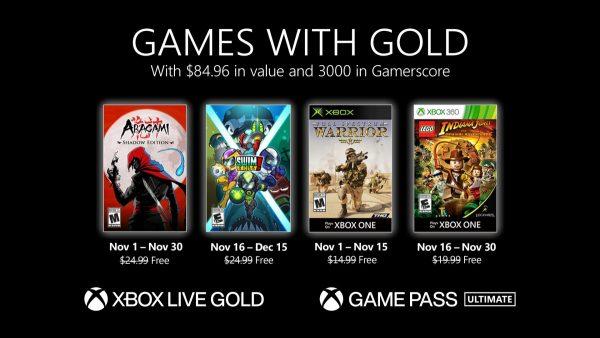 Games With Gold: Saibam os jogos que estarão disponíveis em Novembro!