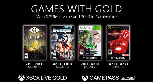 Games With Gold: Saibam os jogos que estarão disponíveis na primeira quinzena de Janeiro de 2021!