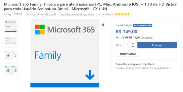 Dica: Economize 50% na assinatura do seu Office 365 Family na Kalunga!