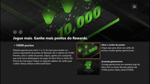 Microsoft Rewards: 10000 Pontos em Maio por 10000Gs! Entenda: