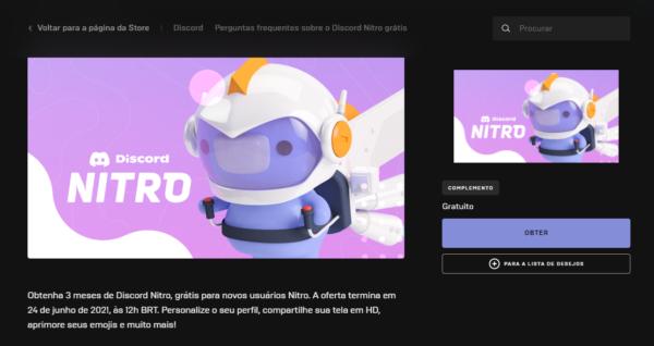 Discord: Saiba como resgatar teus 3 meses de Discord Nitro via Epic Games!