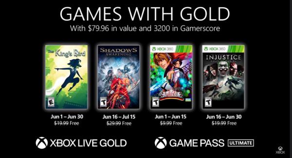 #GamesWithGold: Confira os jogos disponíveis na 2° quinzena de Junho – 2021