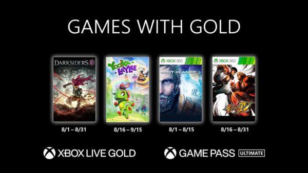 #GamesWithGold: Confira os jogos disponíveis na 2° quinzena de Agosto – 2021