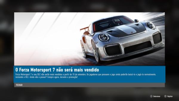 Forza Motorsport 7: Hoje é o último dia para aproveitar e comprar o Game!