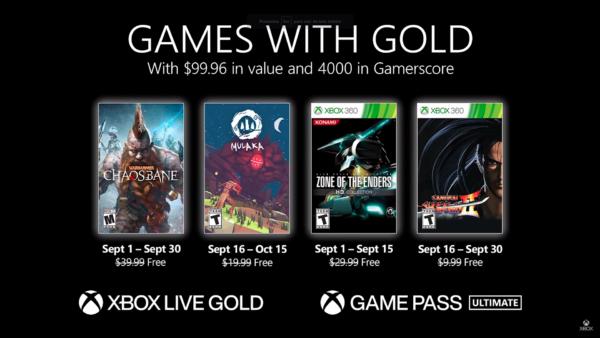 #GamesWithGold: Confira os jogos disponíveis na 2° quinzena de Setembro – 2021