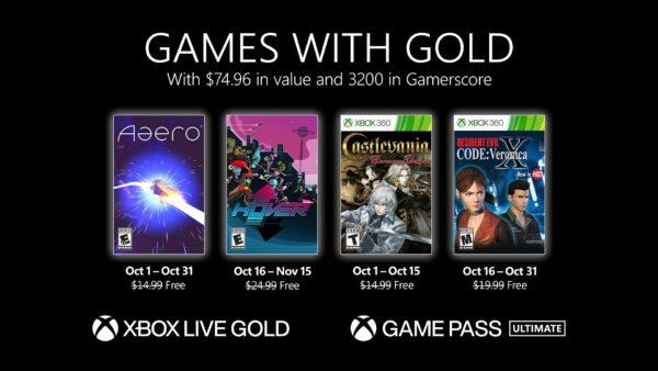 #GamesWithGold: Saibam os jogos que estarão disponíveis em #Outubro2021!