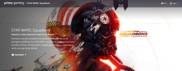 Prime Gaming: STAR WARS: Squadrons está gratuito para os assinantes do Prime!
